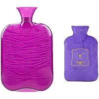 1800ML Klassisch PVC Kalt oder Heiße Wasserflasche mit weichem Plüschbezug, 05 preisvergleich bei billige-tabletten.eu