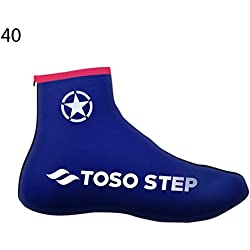 1 par de bicicletas, zapatillas impermeables térmicas, forros térmicos Ciclismo interior Cubiertas cálidas a prueba de viento para el zapato Protector contra la lluvia para la nieve Botines Pies
