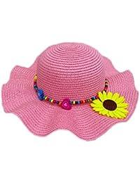 Leisial Enfants Capeline Chapeau de Paille Anti-Soleil Respirant Anti UV  pour Les Filles été 5e078042b8f