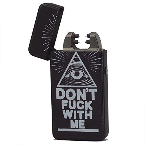 USB Feuerzeug -The Flame X- Elektronisches Feuerzeug Zigarettenanz&uumlnder Elektrische Feuerzeuge Aufladbar Double Lichtbogen (Complot 3)