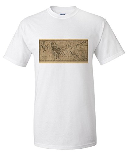 lewis-and-clark-map-mississippi-to-pacific-ocean-circa-1814-premium-t-shirt