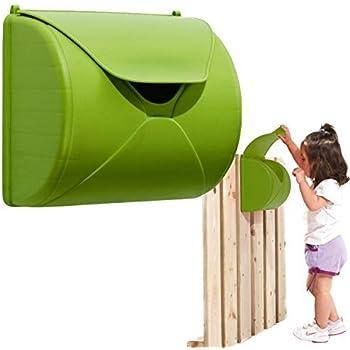 Maison de boîte aux lettres pour tour de jeux pour enfants ou jouer - couleur vert