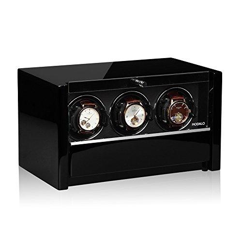 Modalo Clasico MV3 Uhrenbeweger für 3 Automatikuhren in schwarz 3303113