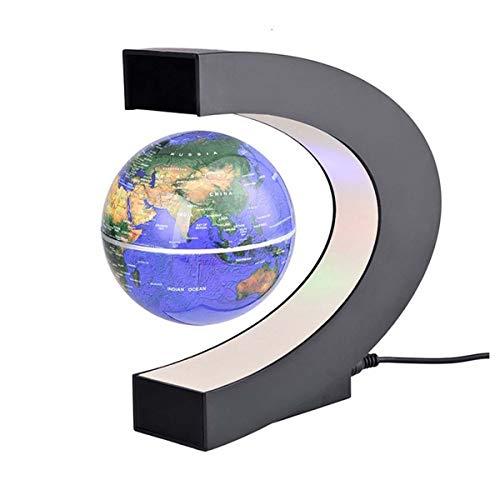 FAY Globo Mondiale a Sospensione a Forma di C, Globo Girevole educativo (Luce a LED), Globo interattivo a Realtà Aumentata per Bambini, Giocattolo per età Bambino a 10 Anni,Blue
