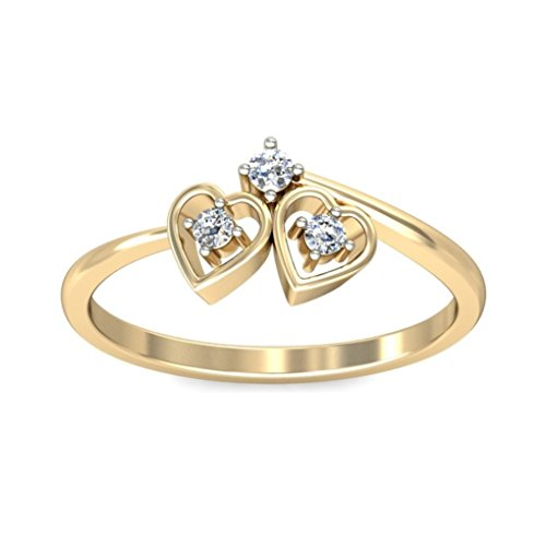 Belle Diamante 18K Gold and Diamond Ring  available at amazon for Rs.7899