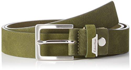 Calvin Klein Jeans Basic Adjustable Belt, Cintura Uomo, Grün (Cargo 313), 90 cm