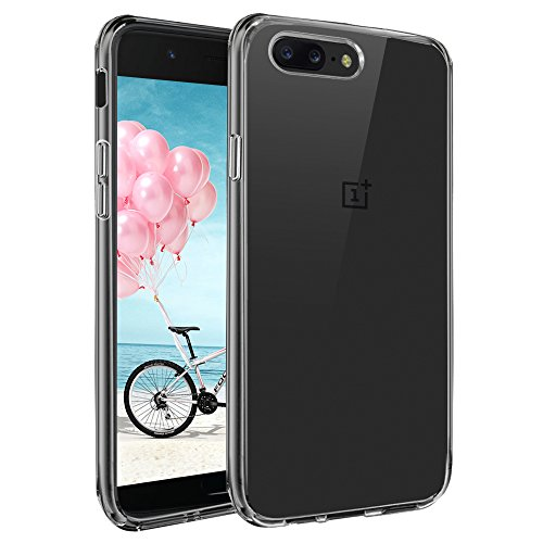 Preisvergleich Produktbild Oneplus 5 Hülle, tronisky Soft Silikon Schutzhülle Flexibel Silikonhülle Drop Protection Anti-Kratzer Crystal Clear TPU Bumper Cover für OnePlus 5 Smartphone - Transparent