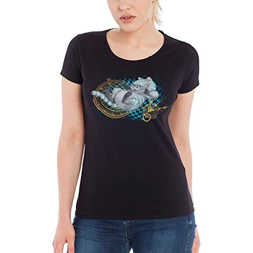 Alice im Wunderland T-Shirt Damen About Time schwarz - (Herzkönigin Burton Tim)