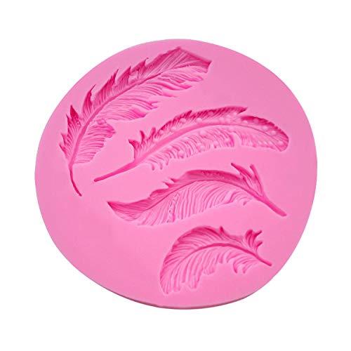 TAOtTAO Silikon Feder Fondantform Kuchen Tier Vögel Plume Schokolade Backen DIY Form Federkuchenform (B) -