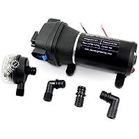 BACOENG DC12V/AC220V presión de agua bomba de diafragma para Caravan/RV/Barco/Marine