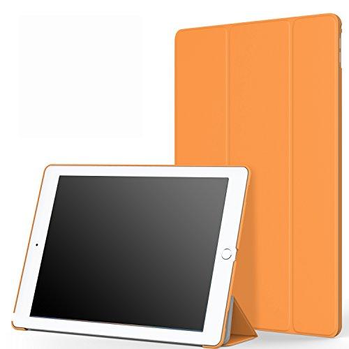 MoKo iPad Pro 12.9 Funda - Ultra Slim Lightweight Función de Soporte Protectora Plegable Smart Cover Case Durable (Auto Sueño / Estela) para Apple iPad Pro 12.9 Pulgadas 2015 Tableta, Naranja
