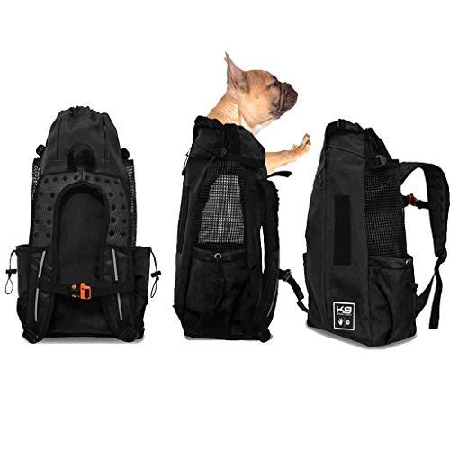 Kostüm Kleines Black Box - Wwjpet Pet Backpack Carrier Für Kleine Mittlere Und Große Hunde Komfortable Rücken- Und Schulterpolster Atmungsaktive Sport-Hundetragetasche Travel,Black,L