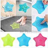 #8: Insasta Starfish Hair Catcher Rubber Bath Sink Strainer Shower Drain Cover Trap Basin
