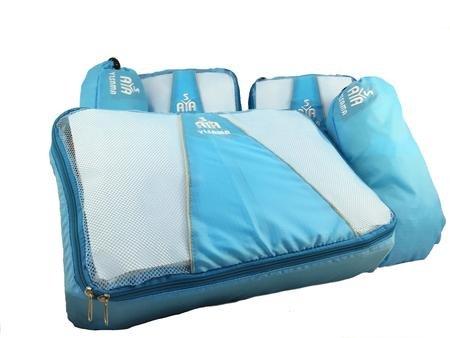Pc-gepäck-set 5 (YISAMA Packing Cubes, Kofferorganizae Packtaschen Set, Ultraleicht, 5 Pcs Umfasst Schuhbeutel Ideal Für Mittelgroße Trolley Farbe Leicht Blau)