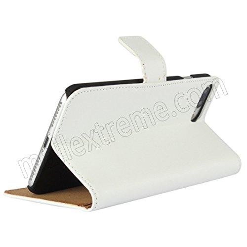AMO® New différentes couleurs Portefeuille en cuir véritable étui livre avec support Coque pour iPhone 44G 5G 5C 66PLUS, Cuir, blanc, 6G