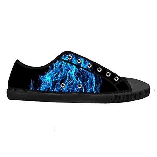 Dalliy feuer feuer Men's Canvas shoes Schuhe Lace-up High-top Sneakers Segeltuchschuhe Leinwand-Schuh-Turnschuhe C