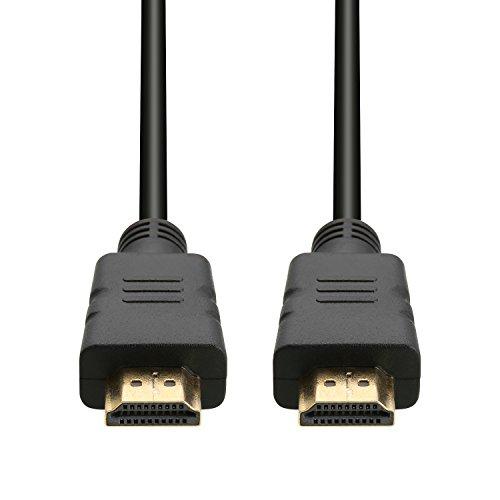 Cable HDMI de alta calidad con contactos dorados Ethernet Pantalla de visualización color negro (1 8 m)