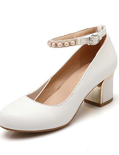 WSS 2016 Chaussures Femme-Bureau & Travail / Décontracté-Noir / Rose / Blanc-Gros Talon-Talons / Confort / Bout Arrondi-Talons-Similicuir pink-us7.5 / eu38 / uk5.5 / cn38