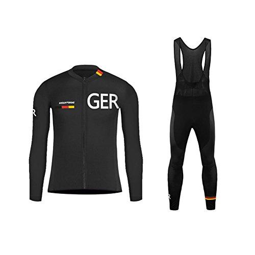 Uglyfrog Designs -Landesvorwahl Sport Radsport Trikots & Shirts Long Sleeve+Bib Lange Hosen Kit Herren Fruhling Stil Bekleidung Atmungsaktiv Body