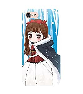 99Sublimation Cute Girl 3D Hard Polycarbonate Back Case Cover for Apple iPhone 7