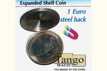 Expanded Shell Coin - (1 Euro, Steel Back w/DVD) by Tango Magic - Trick (E0066) (Dvd-magic Trick)