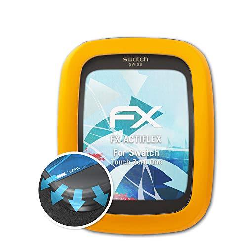 atFoliX Schutzfolie passend für Swatch Touch Zero One Folie, ultraklare und Flexible FX Displayschutzfolie (3X) (Swatch Protector Screen)