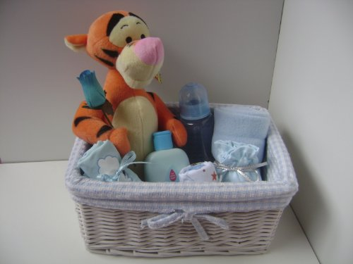 Babysfirstnight Panier cadeau pour bébé garçon Motif tigre Disney
