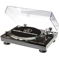 Audio Technica AT-LP120USBHC Plattenspieler mit Direktantrieb inkl. Tonabnehmer AT95E & Headshell AT-HS10 Schwarz