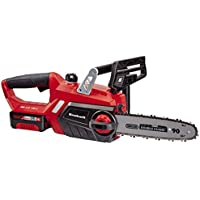Einhell GE-LC 18 Li Kit - Motosierra inalámbrica, batería Power X-Change, lubricación automática, longitud de corte 23 cm, velocidad de corte 4.3 m/s, color rojo