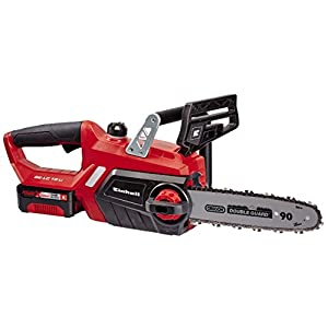 Einhell Cordless Chainsaw GE-LC 18/25 Li Kit Power X-Change (Li-ion, 18 V, High-Quality OREGON Blade & Chain, Kickback…