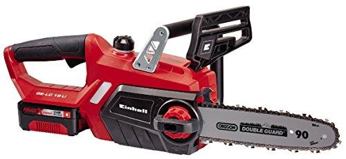 Einhell 4501760 GE-LC 18 Li Kit - Motosierra inalámbrica, batería Power X-Change, lubricación automática, longitud de corte 23 cm, velocidad de corte 4.3 m/s, 2000W , 18 V