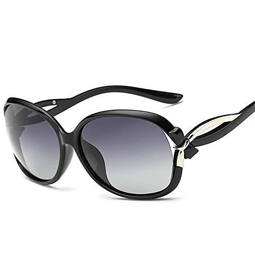 HBLWX Retro Bunte polarisierte Sonnenbrille, weiblicher polarisierter Spiegel des großen Rahmens der Mode für den UV-Schutz 400, der Sport im Freien fährt