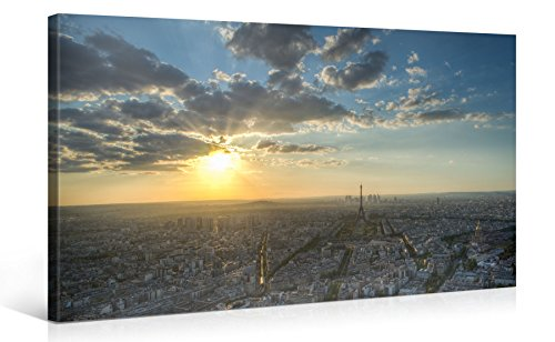 impression-gicle-sur-toile-en-grand-format-paris-in-sunlight-from-above-100x50cm-photo-sur-toile-de-