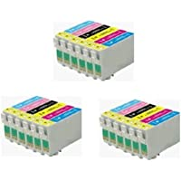 3 Full Sets : 18 High Capacity Compatible Ink Cartridges Multipack T0487 - T0481 T0482 T0483 T0484 T0485 T0486 for Epson Stylus Photo R200 R220 R300 R300M R320 R325 R340 R350 RX500 RX600 RX620 RX640 ink jet Printers 0487, 0481, 0482, 0483, 0484, 0485, 0486, (487, 481, 482, 483, 484, 485, 486)