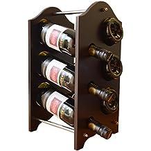 Nueva botellero para 6botellas de vino Home/cocina/bar display stand soporte