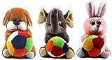 #4: Richy Toys Combo Dog Rabbit And Elephant Cute Teddy Soft Toy Kids Birthday (19 Cm)