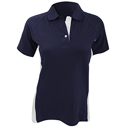 Finden & Hales - Polo Sport 100% coton - Femme Bleu roi/Blanc