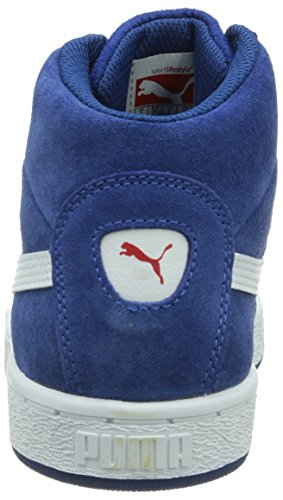 Puma - Puma '48 Mid Jr, Alte Scarpe Da Ginnastica infantile Blu (Blau (limoges-white-high risk red 02))