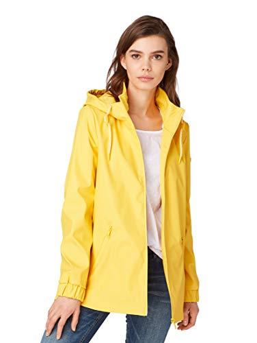 TOM TAILOR für Frauen Jacken & Jackets Kurzer Regenmantel Milky Sunflower Yellow, XL