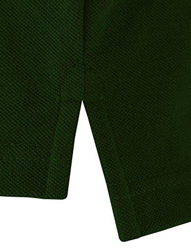 BCPOLO Mann-Baumwollpolohemd Klassisches Design 7 Farben t?glich tragen Shirt Grün