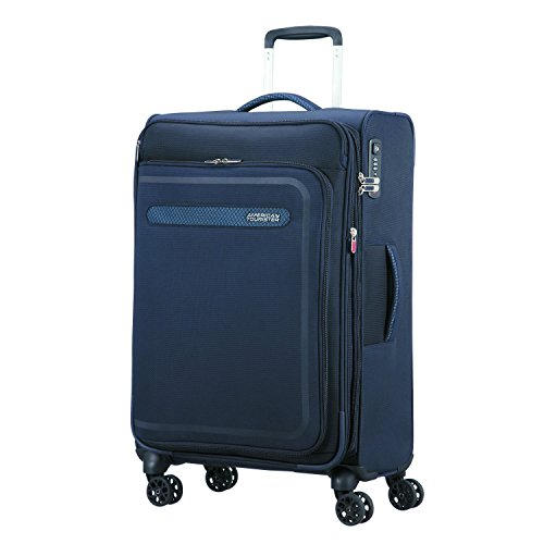 American Tourister Airbeat - Spinner 68/25 Expandable Bagage cabine, 68 cm, 75 liters, Bleu (True Navy)
