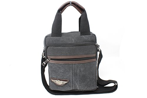 Frédéric Johns® - Vintage Sac à Bandoulière en toile - Sac porté épaule - Sacoche de sport pour voyage - sacoche sport - poignée porté main - sacoche école