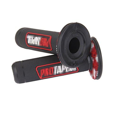 """22mm Poignée Moto Vélo Silicone Grip Couvre Housse de Protection 7/8"""" Rouge"""