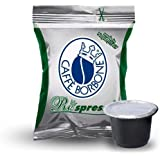 CAFFÈ BORBONE RESPRESSO - MISCELA VERDE / DEK - DECAFFEINATO - Box 50 CAPSULE COMPATIBILI NESPRESSO da 5g