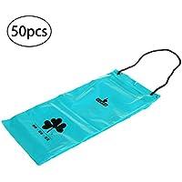 WINOMO 50 pcs Voiture Trash Sac Portable Seat Retour Accrocher Poubelle Sacs Disposable Voiture Organisation Stockage Sacs (Bleu)