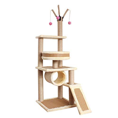 Albero Tiragraffi, Torre for Gatti Stabile/Cat Activity Trees Condo Furniture/con tiragraffi for Gattini Pet House Play/Altezza 135cm