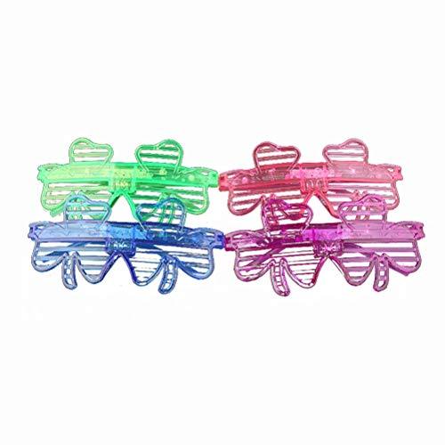 Toyvian LED-Brille, leuchtet im Dunkeln, 12 Stück, Neonbrillen, Sonnenbrillen, Sonnenbrillen, Sonnenbrillen, Zubehör
