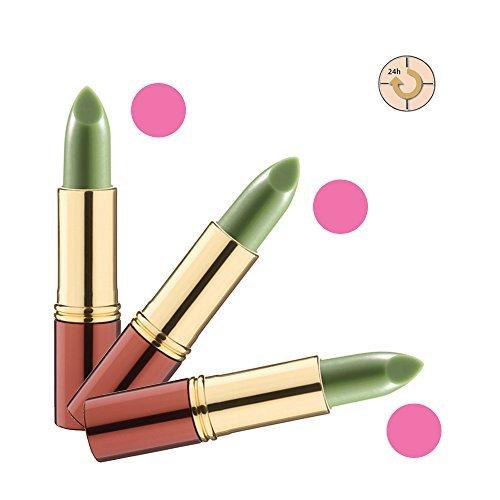 Ikos Rouge à Lèvres Lot de 3: Rouge à lèvres Intelligent DL2 vert - Rose de nuit