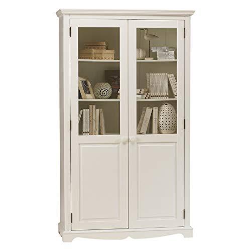 Belle Armoire (Unbekannt Die tatsächliche Diffusion 40222Windsor Bücherregal mit 2Türen weiß Holz 42x 109x 186cm)