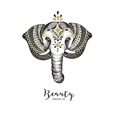 Geiqianjiumai Böhmischen Stil Elefanten fliegen vogelfeder leinwand malerei Poster Wohnzimmer wandmalerei abstrakte Dekoration rahmenlose malerei Kern 1 60x60 cm